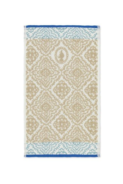 Guest-towel-khaki-30x50-jacquard-check-pip-studio-cotton-terry-velour