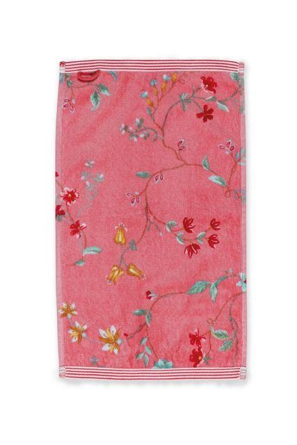 Guest-towel-pink-30x50-les-fleurs-pip-studio-cotton-terry-velour