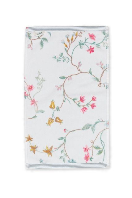 Guest-towel-white-30x50-les-fleurs-pip-studio-cotton-terry-velour