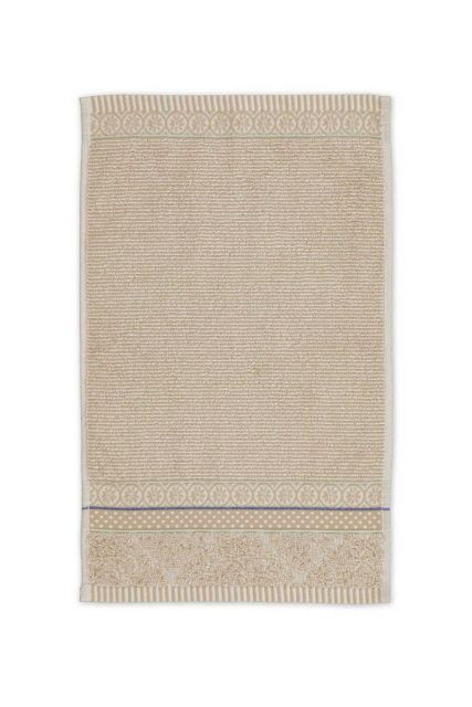 Guest-towel-khaki-30x50-soft-zellige-pip-studio-cotton-terry-velour