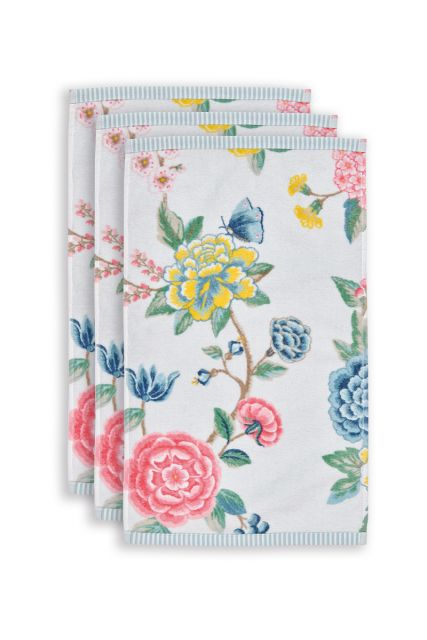 gastendoek-set/3-bloemen-print-wit-30x50-cm-pip-studio-good-evening-katoen