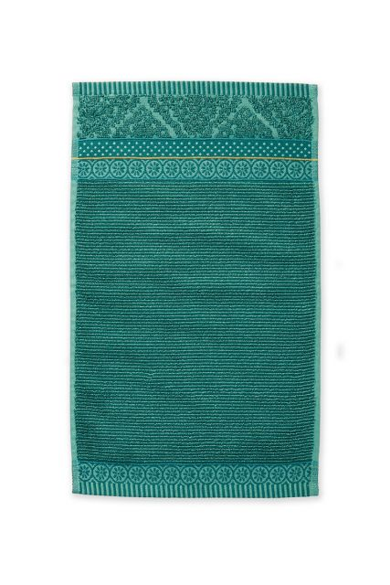 Guest-towel-green-30x50-soft-zellige-pip-studio-cotton-terry-velour