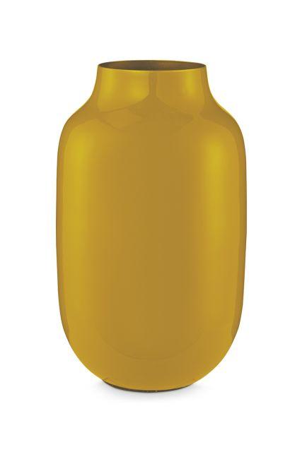 Vase-oval-yellow-metal-pip-studio-30-cm