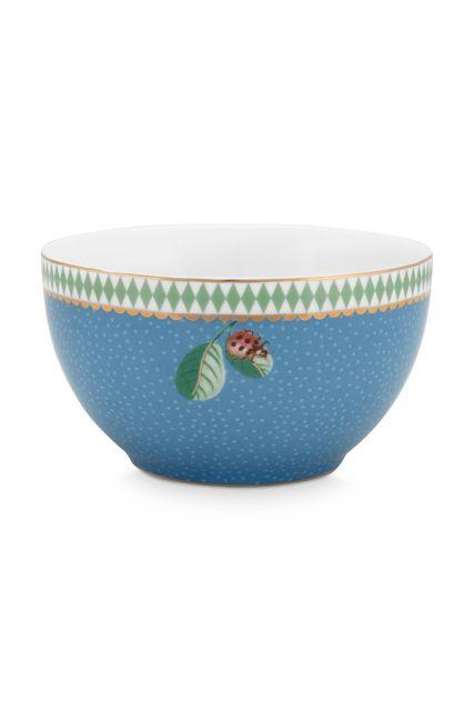 kom-la-majorelle-van-porselein-met-een-lieveheersbeestje-in-blauw-9,5-cm