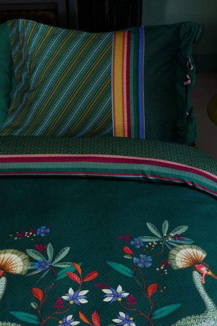 kissenbezug-birds-in-a-row-grün-blumen-pip-studio-60x70-40x80-baumwolle