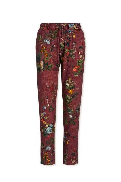 Trousers Long Floris Red