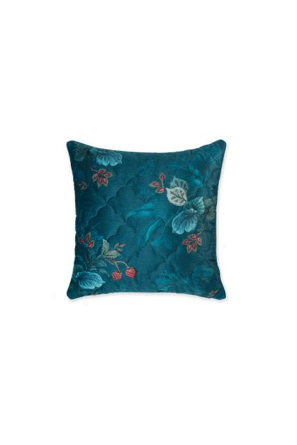 cushion-velvet-blue-floral-square-cushion-quilted-decorative-pillow-leafy-stitch-pip-studio-45x45-cotton