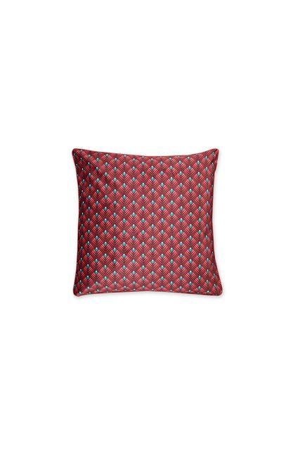 kissen-velvet-rot-lotus-quadratisches-Kissen-gesteppt-lily-lotus-dekokissen-pip-studio-45x45-baumwolle