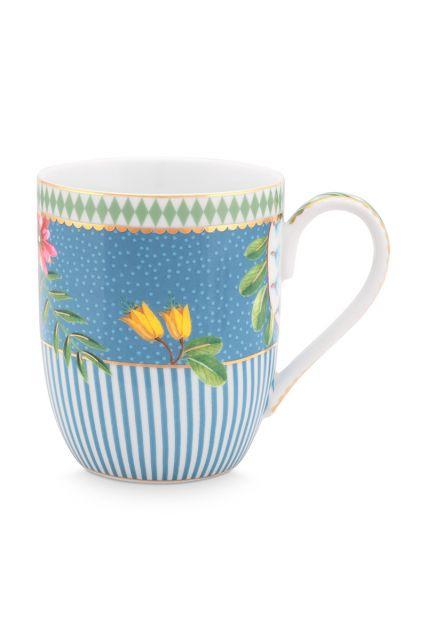 mok-klein-la-majorelle-van-porselein-met-bloemen-in-blauw