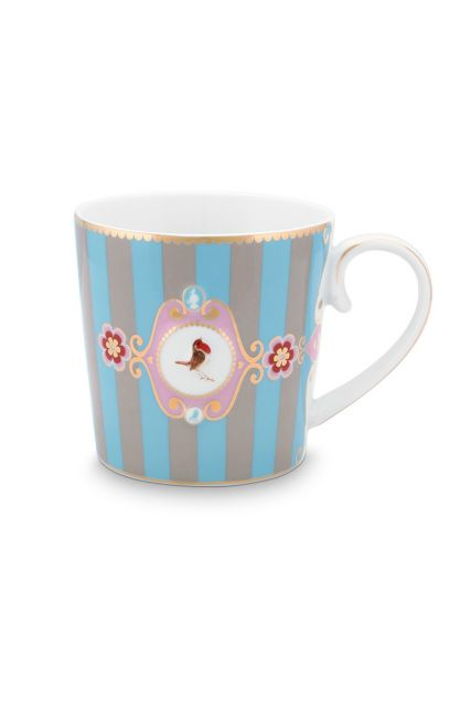 mug-love-birds-large-in-blue-and-khaki-with-bird-and-stripes