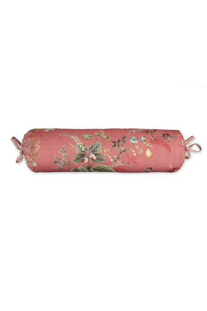 cushion-pink-floral-neck-roll-cushion-decorative-pillow-fall-in-leave-pip-studio-22x70-cotton