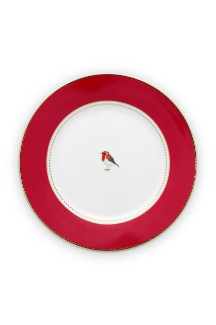 breakfast-plate-love-birds-in-red-with-bird-21-cm