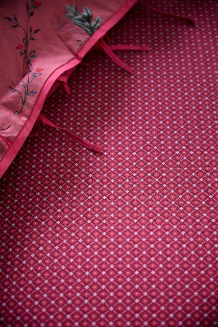 Hoeslaken-rood-startile-pip-studio-katoen-140x200-180x200-cm