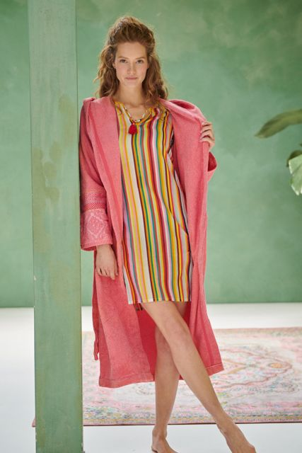 Bathrobe-coral-jacquard-soft-zellige-pip-studio-cotton-terry-velour