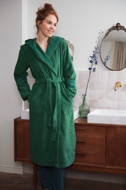 Bathrobe-green-jacquard-soft-zellige-pip-studio-cotton-terry-velour