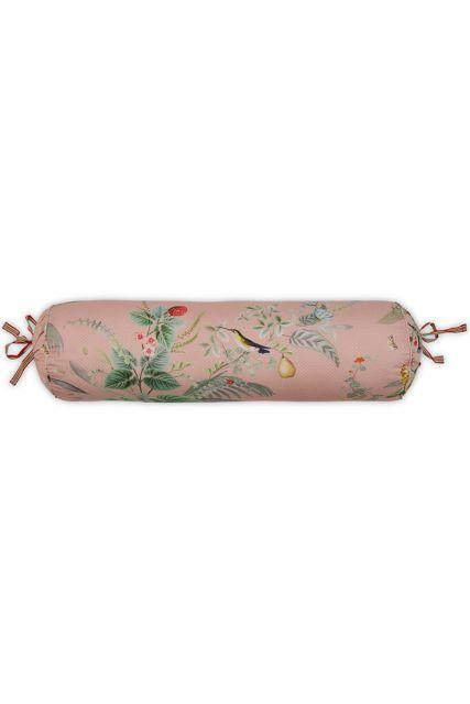 kussen-roze-bloemen-rolkussen-sierkussen-floris-pip-studio-22x70-katoen
