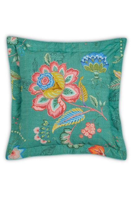 kussen-groen-bloemen-vierkant-sierkussen-jambo-flower-pip-studio-2-perosonen-45x45-katoen