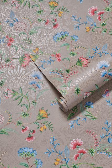behang-vliesbehang-bloemen-khaki-pip-studio-la-majorelle