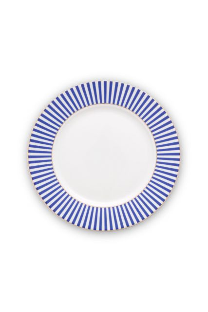 plate-royal-stripes-21-cm-6/36-blue-white-pip-studio-51.001.245