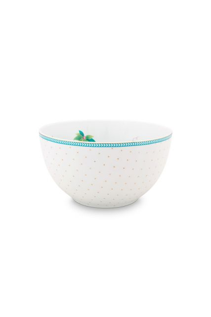 porcelain-bowl-jolie-flowers-dots-gold-15-cm-6/24-white-pip-studio-51.003.169