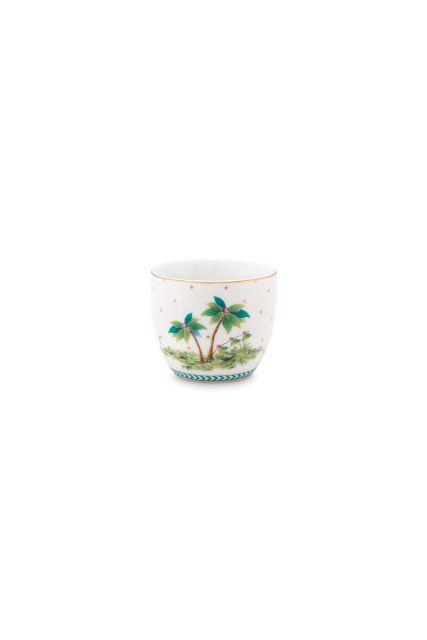 porcelain-egg-cup-jolie-dots-gold-6/48-palmtrees-pip-studio-blue-51.011.030