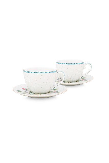 porcelain-set/2-espresso-cups-&-saucers-jolie-dots-gold-120-ml-1/24-white-blue-flowers-51.004.118