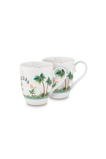 porcelain-set/2-mugs-large-jolie-dots-gold-350-ml-1/18-white-pip-studio-51.002.248