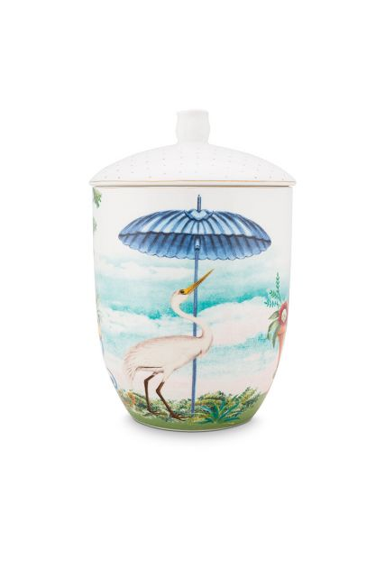 porcelain-storage-jar-joilie-heron-1,5-l-1/8-blue-bird-beach-sun-51.009.031