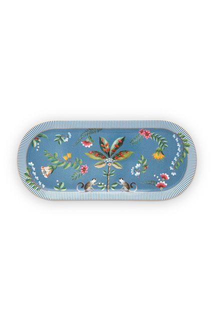 rechthoekig-taartplateau-la-majorelle-van-porselein-met-bloemen-in-blauw
