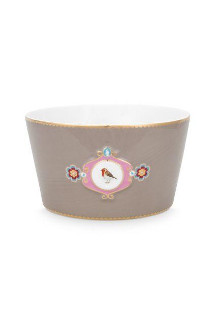 bowl-love-birds-in-khaki-with-bird-15-cm