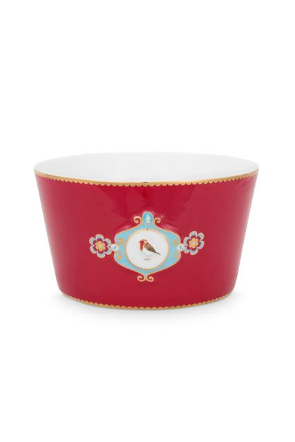bowl-love-birds-in-red-with-bird-15-cm