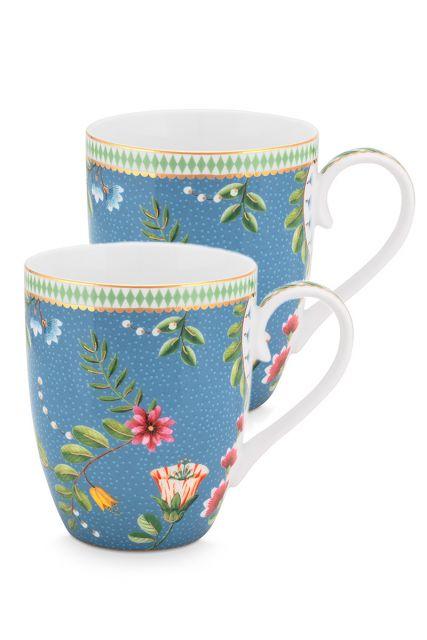 set-2-mug-large-la-majorelle-made-of-porcelain-with-flowers-in-blue