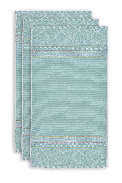 Handdoek-set/3-blauw-55x100-soft-zellige-katoen