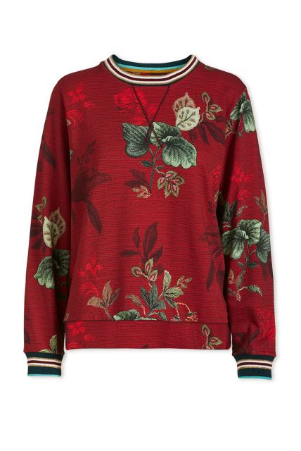 sweater-leafy-stitch-in-rot-mit-blumen-design