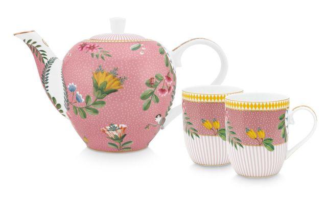 La Majorelle Tea Set of 3 Pink