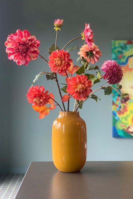 Artificial-flowers-red-silk-thousand-and-leaves-pip-flowers-pip-studio