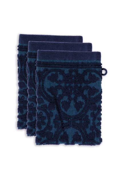 Washcloth-set/3-baroque-print-dark-blue-16x22-pip-studio-tile-de-pip-cotton