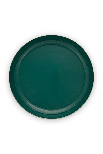 metal-tray-enamelled-dark-green-gold-blushing-birds-pip-studio-50-cm
