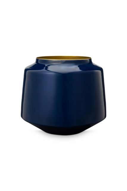 Vase-small-dark-blue-metal-royal-pip-studio-22x26-cm