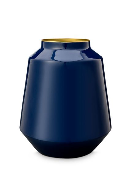Vase-medium-dark-blue-metal-royal-pip-studio-24x29-cm
