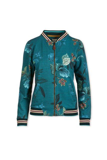 Bomberjacket Leafy Stitch Blue
