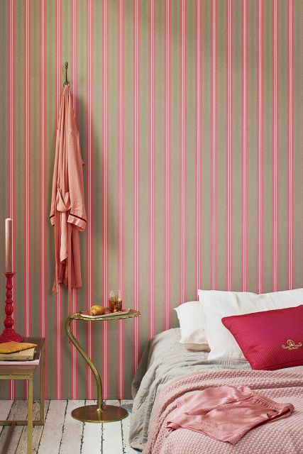tapete-vliestapete-lines-khaki/rosa-pip-studio-blurred-lines