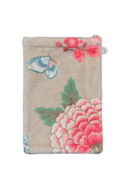 Waschlappen-khaki-blumen-16x22-good-evening-pip-studio-baumwolle-velours-frottier