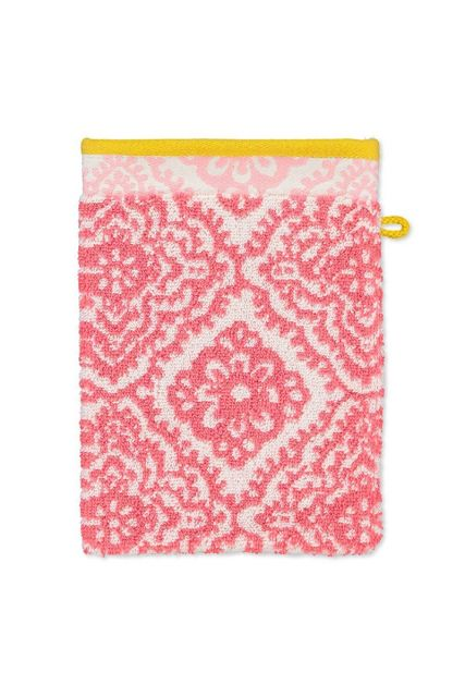 Wash-cloth-dark-pink-floral-16x22-jacquard-check-pip-studio-cotton-terry-velour