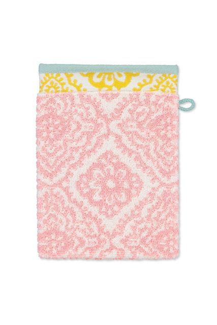 Wash-cloth-pink-floral-16x22-jacquard-check-pip-studio-cotton-terry-velour