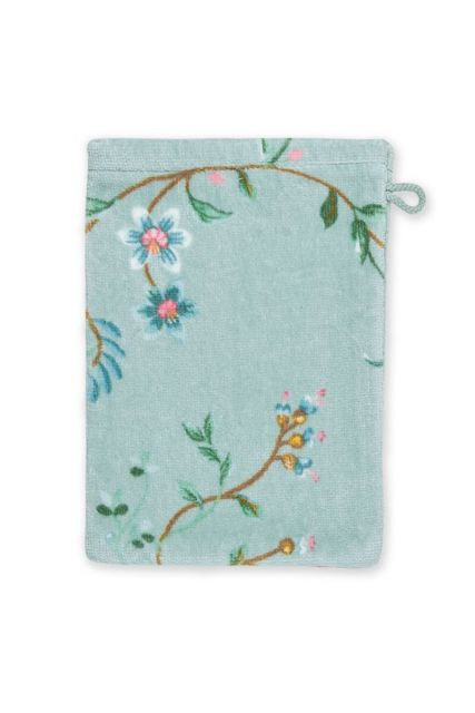 Wash-cloth-blue-floral-16x22-les-fleurs-pip-studio-cotton-terry-velour