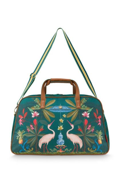 weekend-bag-medium-heron-homage-groen-57x22x37-cm-nylon/satin-1/12-pip-studio-51.273.237