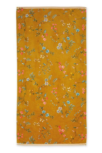 Bath-towel-xl-floral-yellow-70x140-les-fleurs-pip-studio-cotton-terry-velour