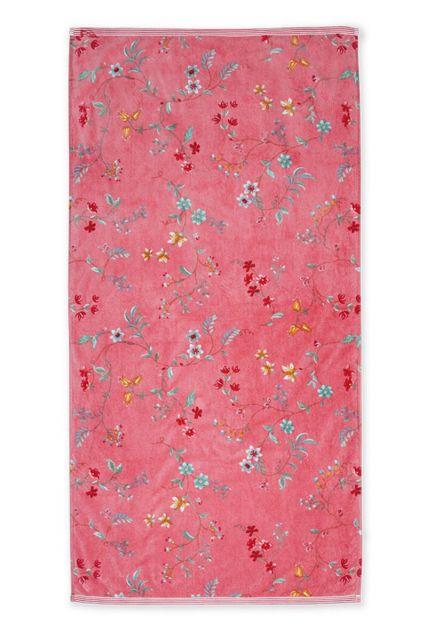 Duschlaken-handtuch-xl-blumen-rosa-70x140-les-fleurs-pip-studio-baumwolle-velours-frottier