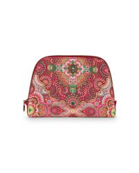 Cosmetic Bag Triangle Medium Moon Delight Red